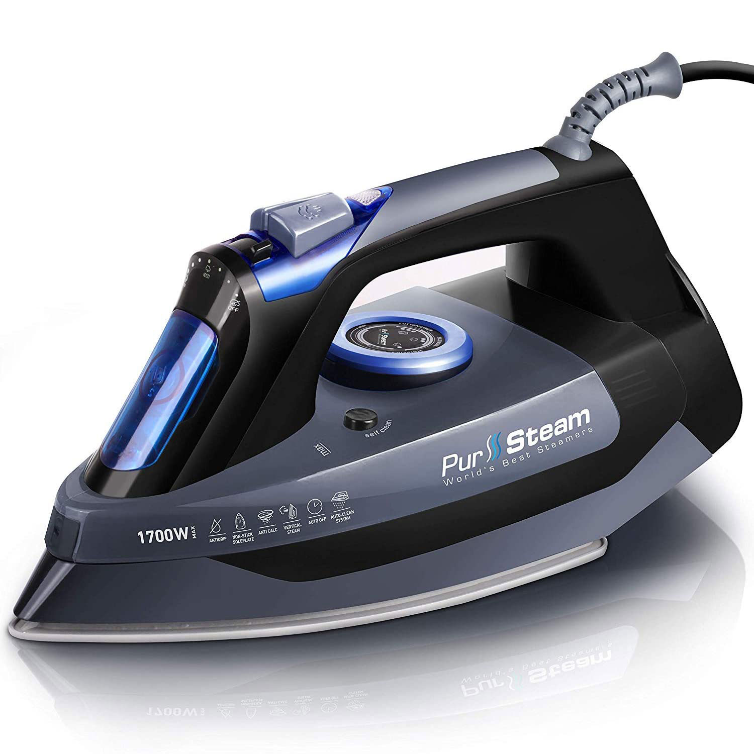 Steam Iron for Clothes Compact Size with Ceramic Soleplate Light-Weight Medium