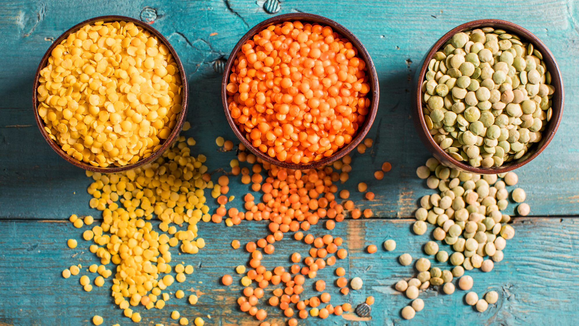 Benefits of lentils - health benefits of eating lentils (different colored lentils)