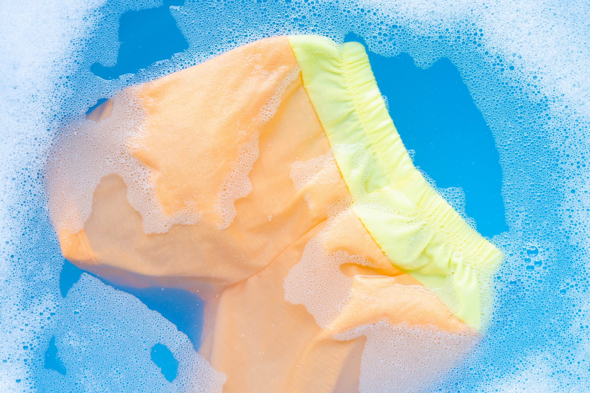 cleaning myths true or false, shorts in sudsy water