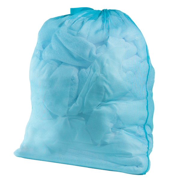 What to bring to college, blue laundry bag
