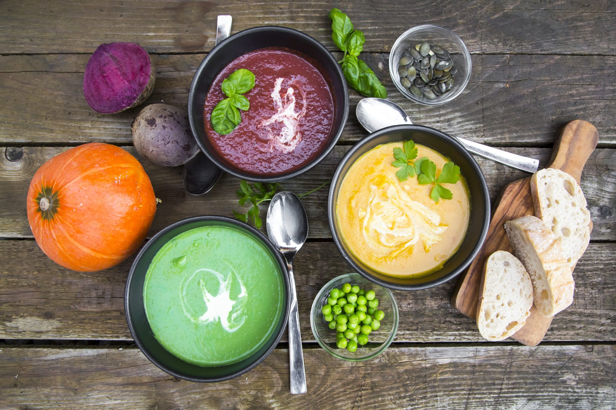 Different types of soup recipes