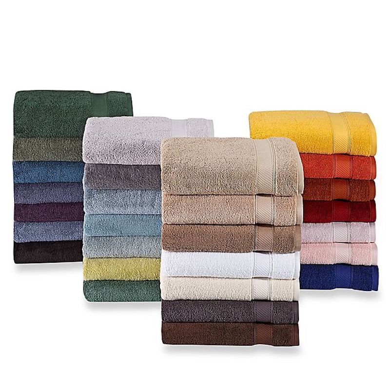stacks of colorful bath towels
