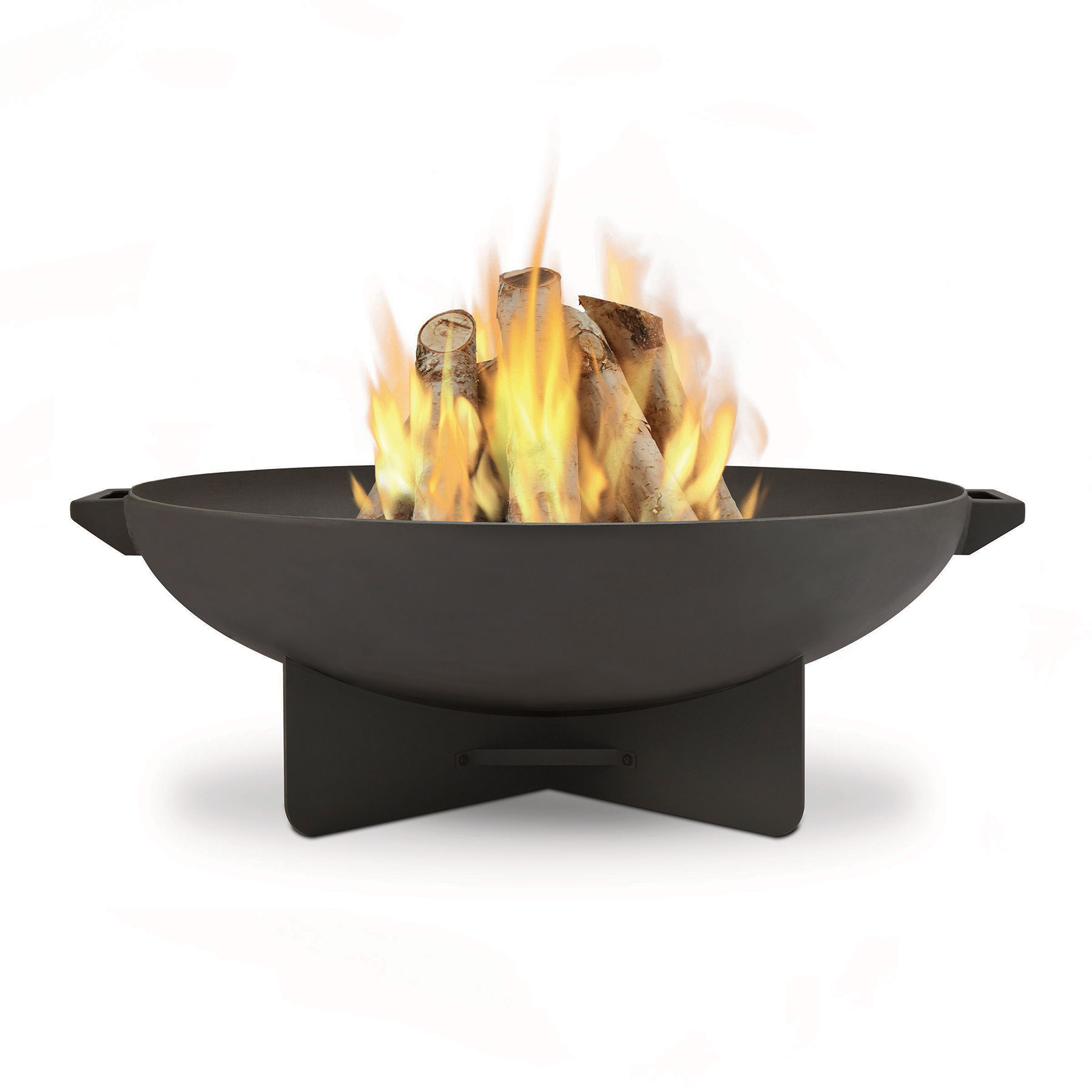 Best Fire Pits: Real Flame Anson Wood Burning Steel Fire Bowl