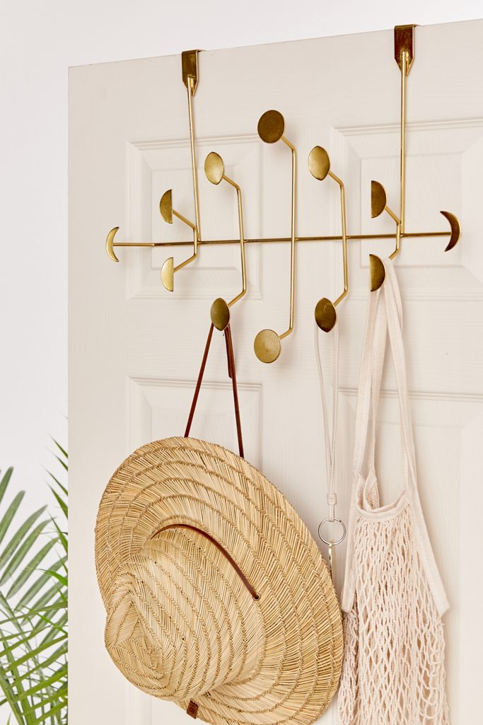 Gold back of door organizer with hooks