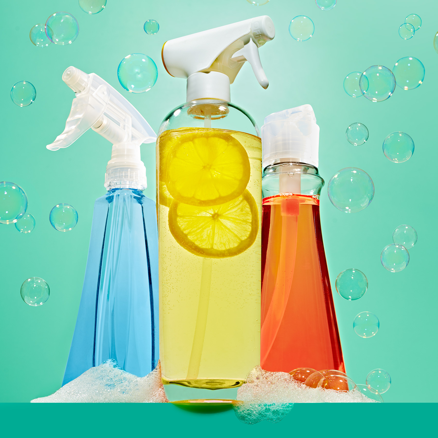 Natural Cleaning Guide: natural cleaners and soap bubbles