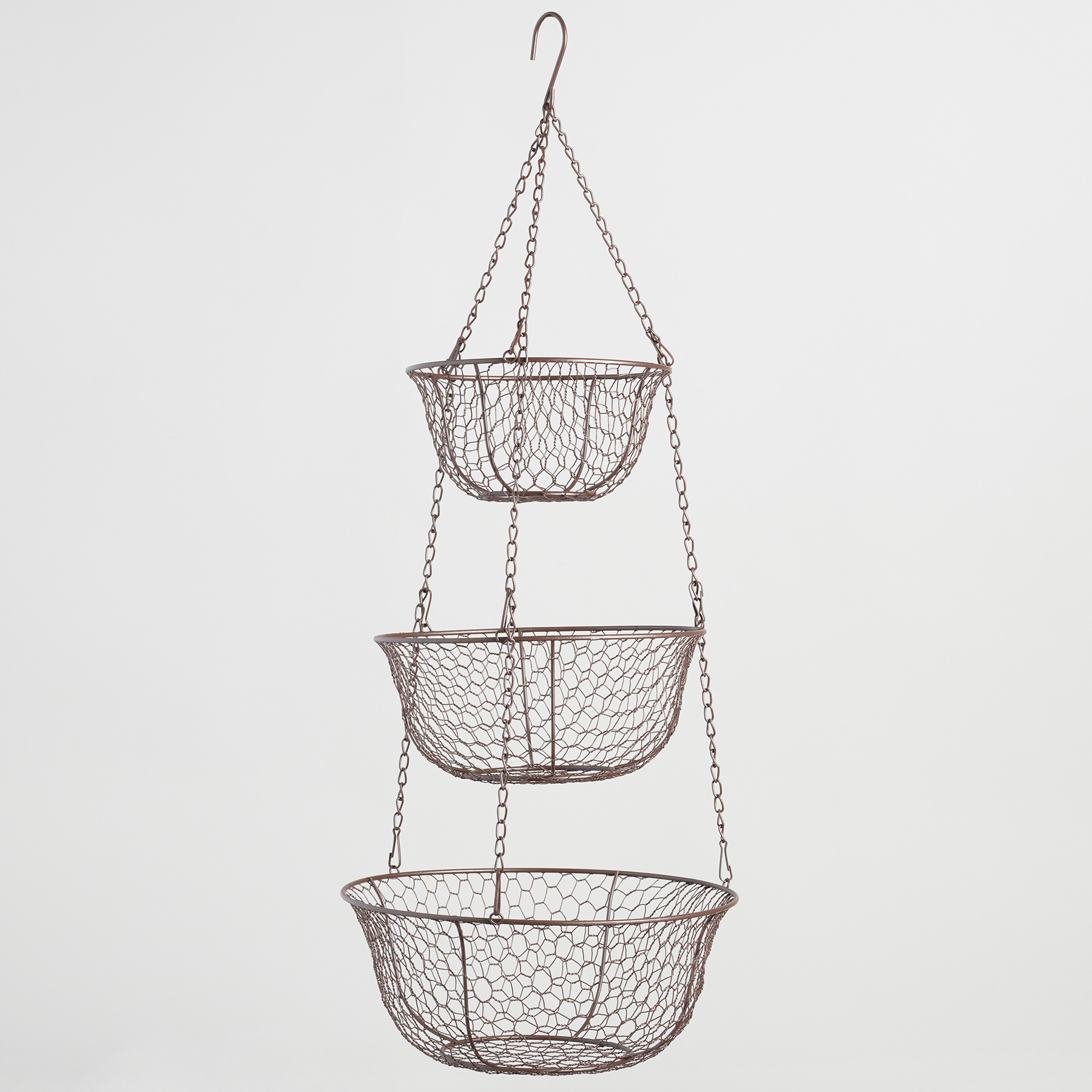 Tiny Home Interior Organizing Products: Wire Three-Tier Hanging Basket