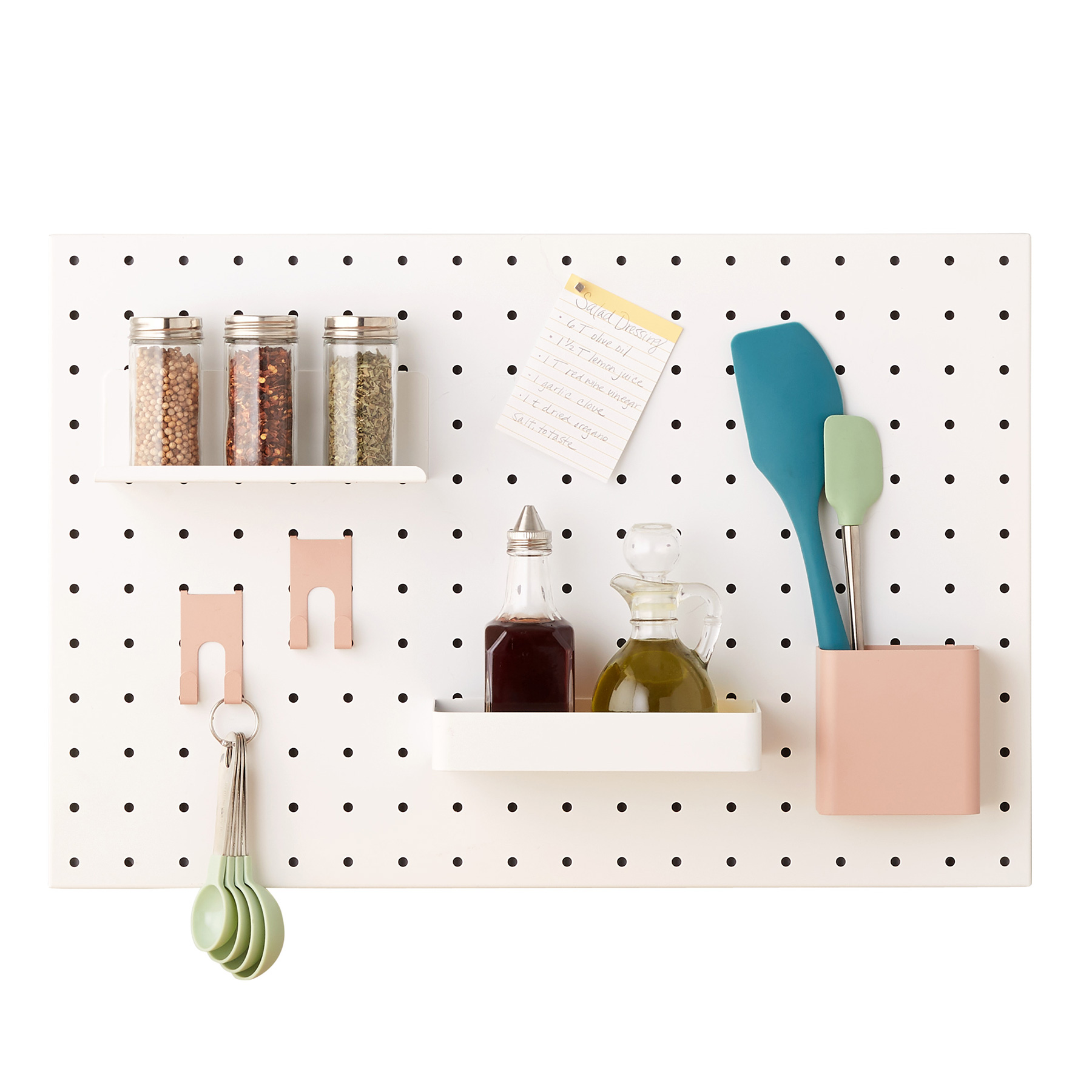 Tiny Home Interior Organizing Products: White Bello Pegboard
