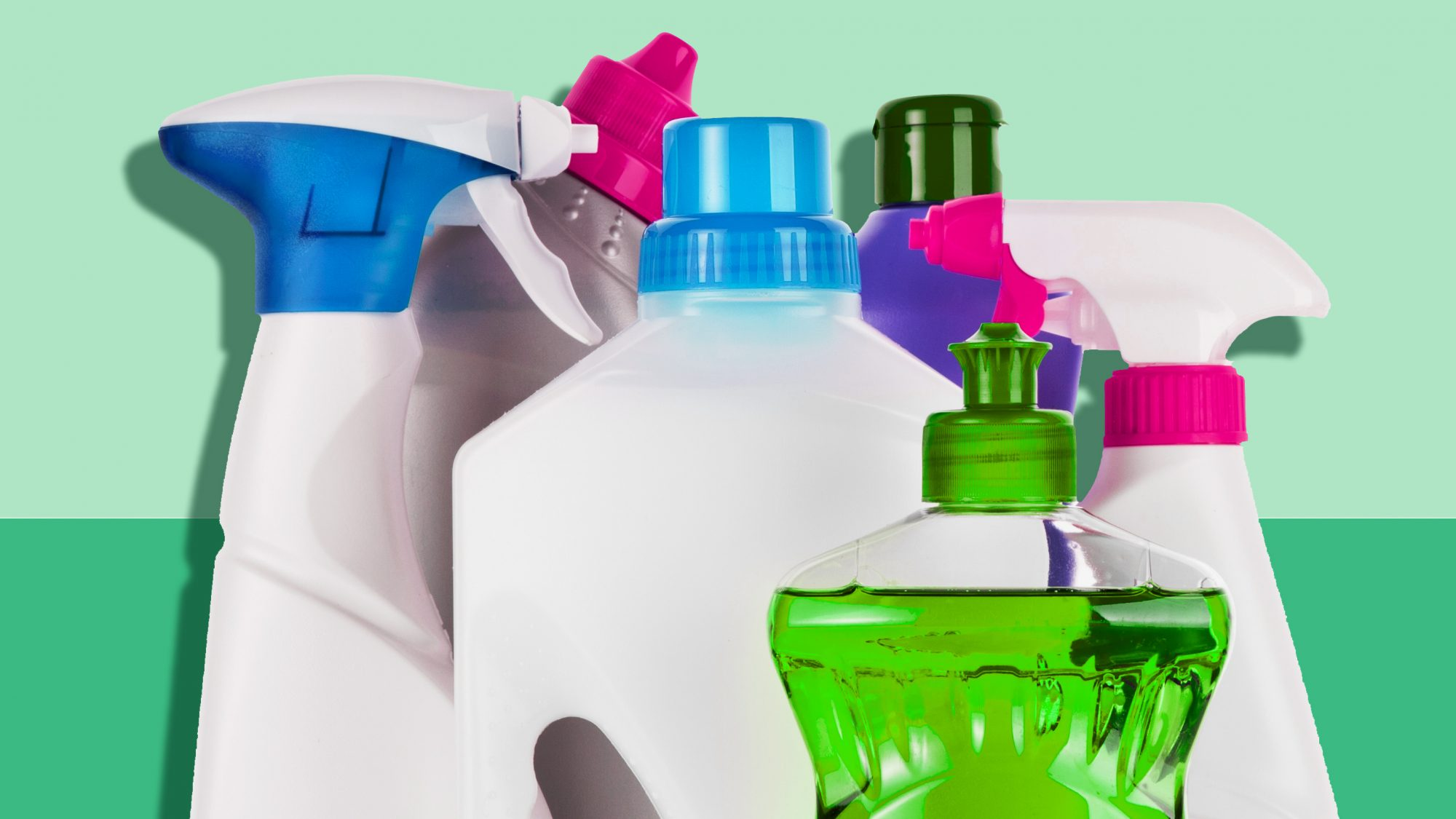 how to remove every type of stain, bottles of cleansers