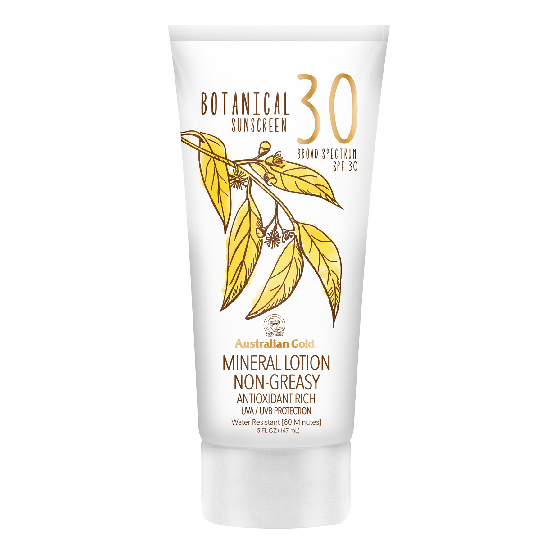 Healthy Summer Skincare: Australian Gold Botanical Mineral Sunscreen Lotion SPF 30
