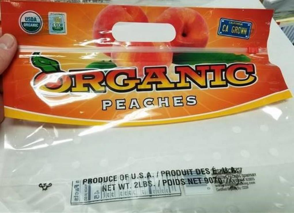 aldi organic peaches