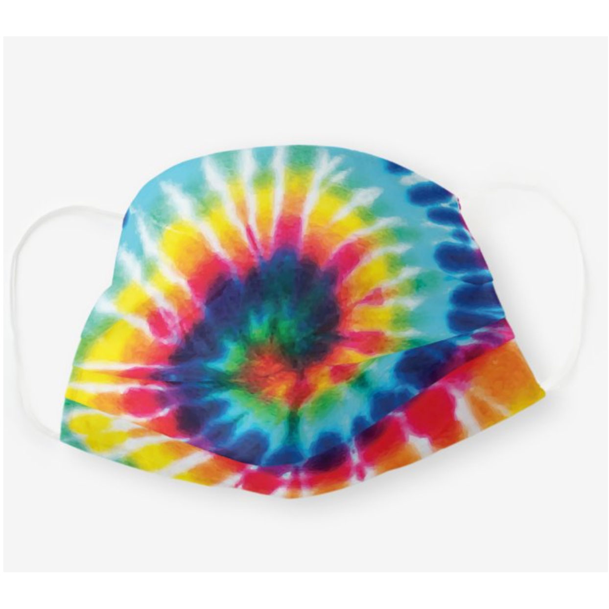 Zazzle Rainbow Tie Dye Cloth Face Mask