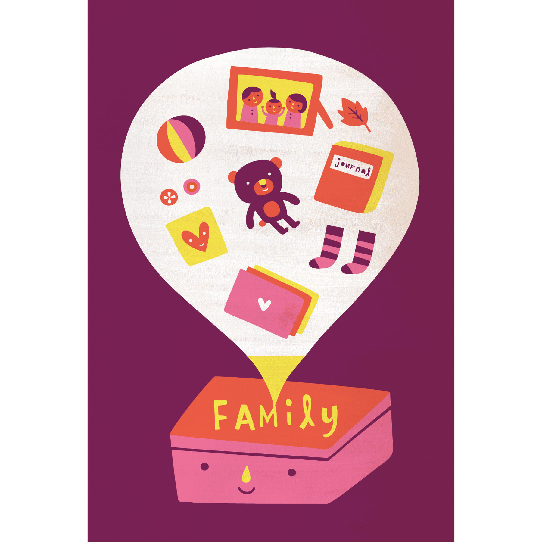 Fun family activities - Time capsule illustration