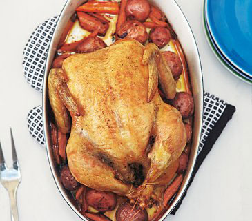 Easy chicken recipes - Roast Chicken and Vegetables
