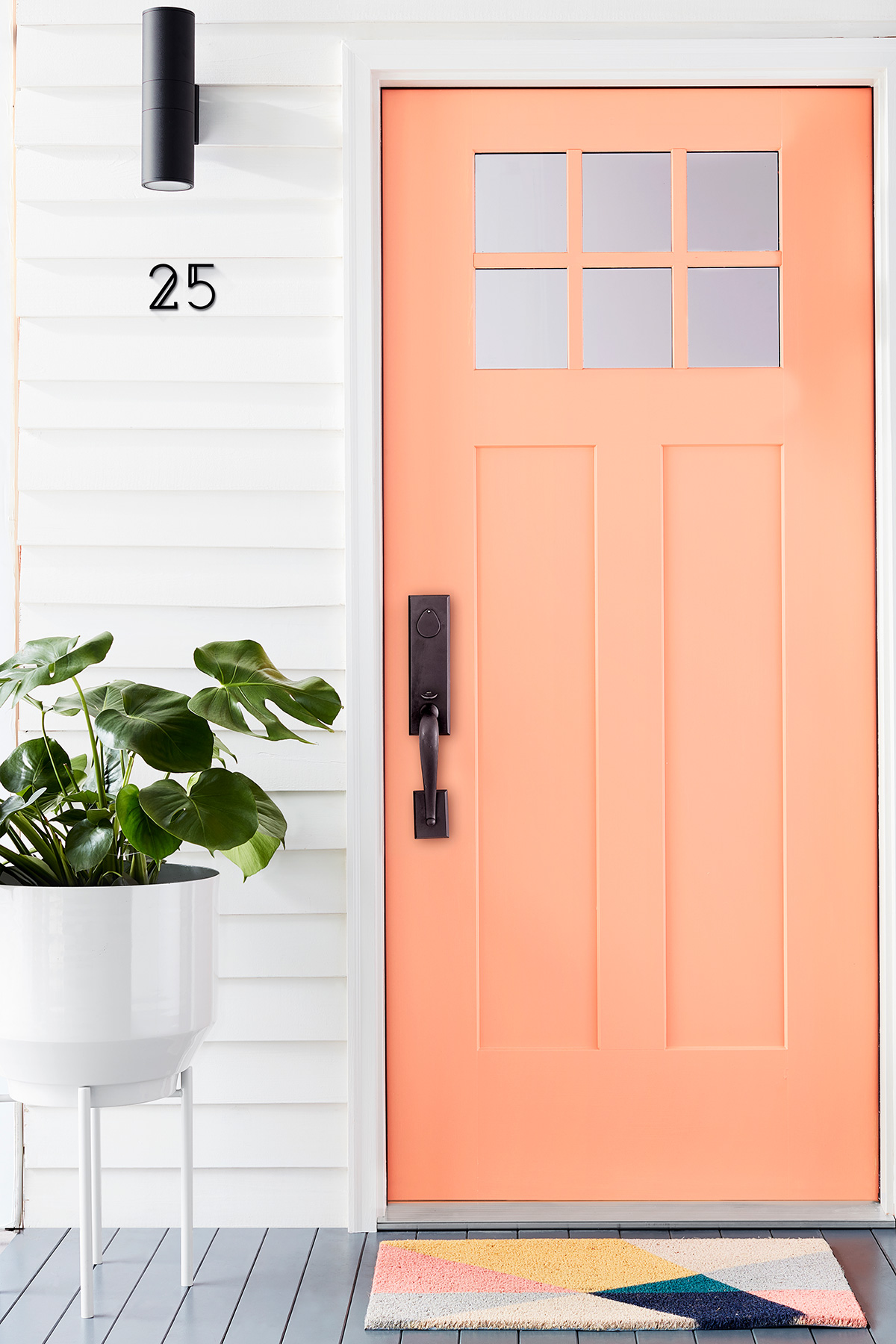 Exterior House Painting Guide: Pink Front Door