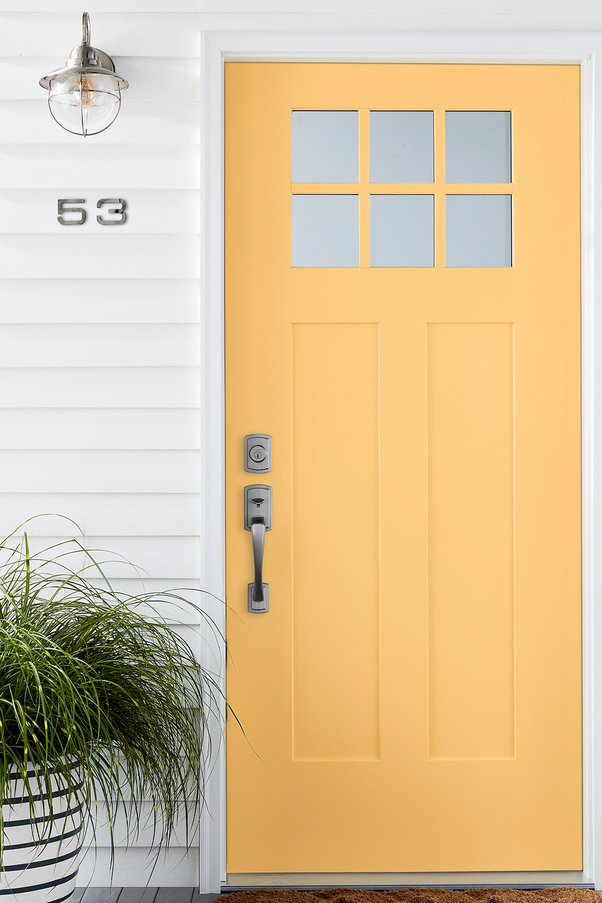 Exterior House Painting Guide: Yellow Front Door