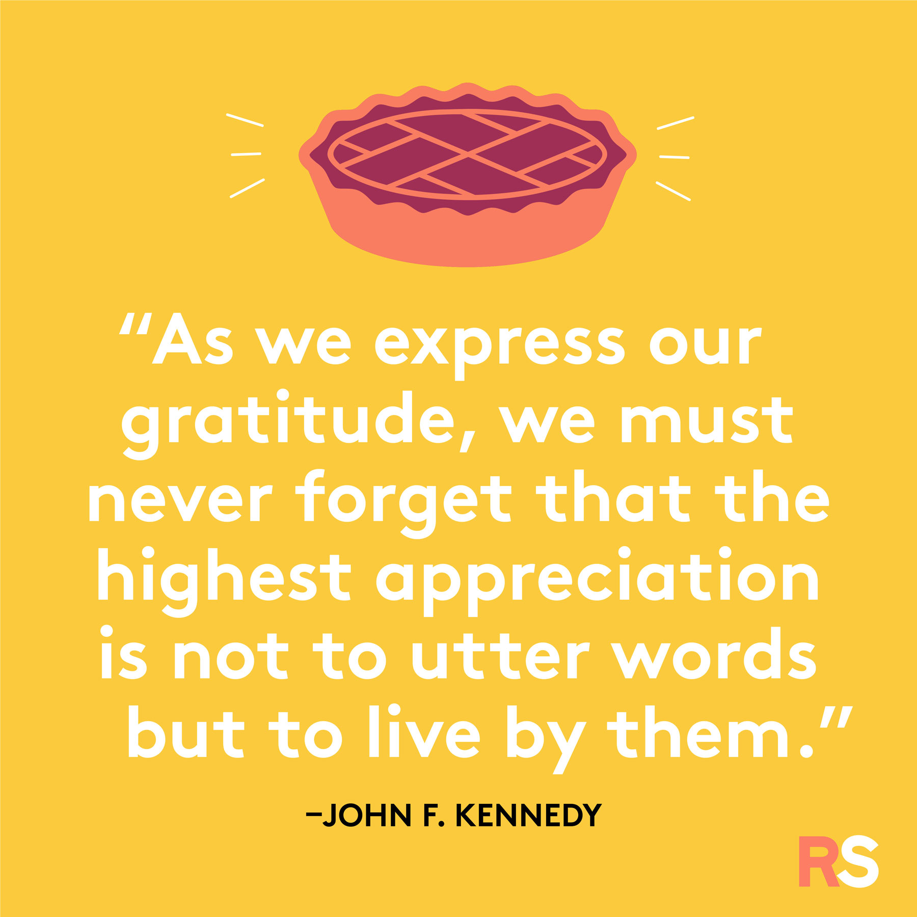 Thanksgiving wishes, messages, captions - john f kennedy
