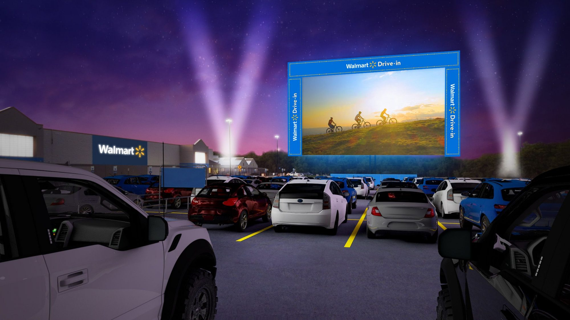 Walmart hosts free drive-in movie nights through October 2020