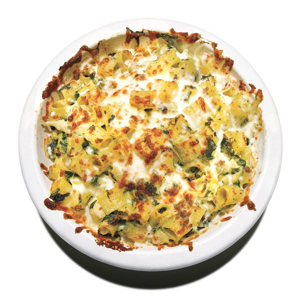 Easy pasta recipes - Cheesy Baked Pasta With Spinach and Artichokes