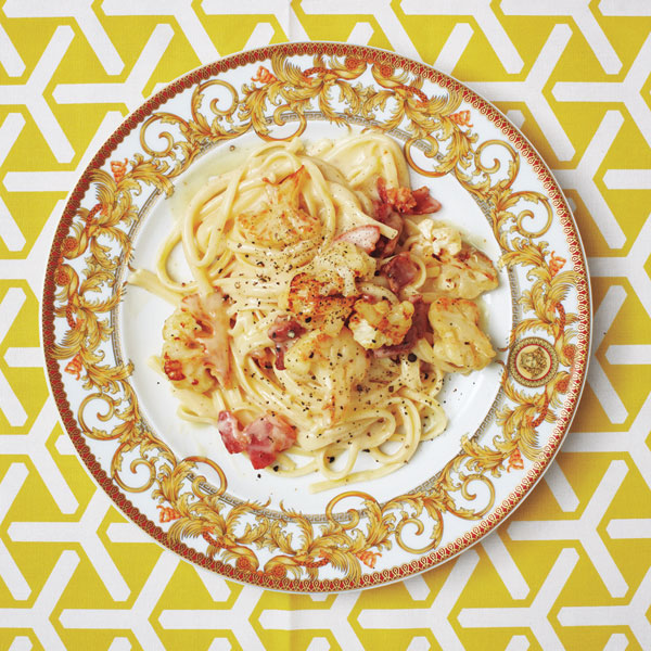 Easy pasta recipes - Linguine Carbonara With Cauliflower