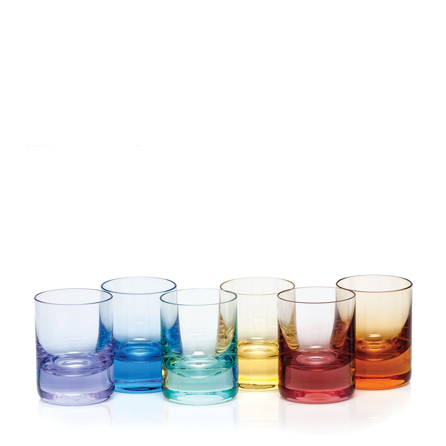technicolor glassware from Bloomingdale's