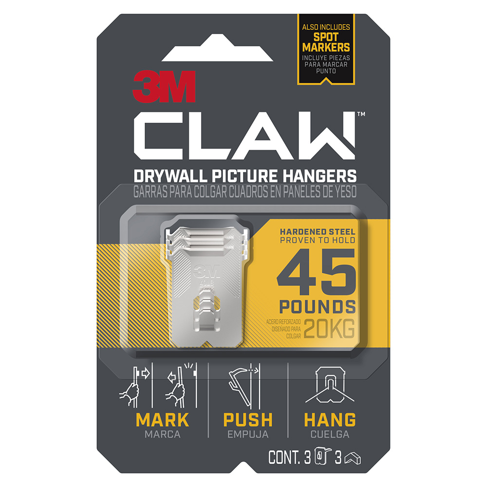 6 Clever Items: 3M Claw Drywall Picture Hangers