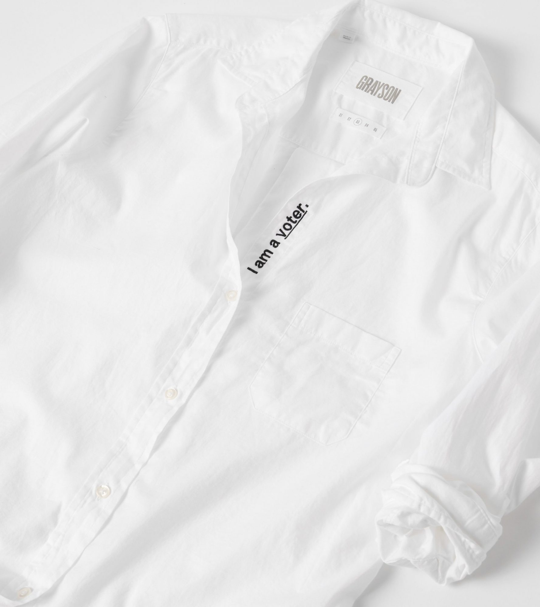 White button down shirt from Grayson
