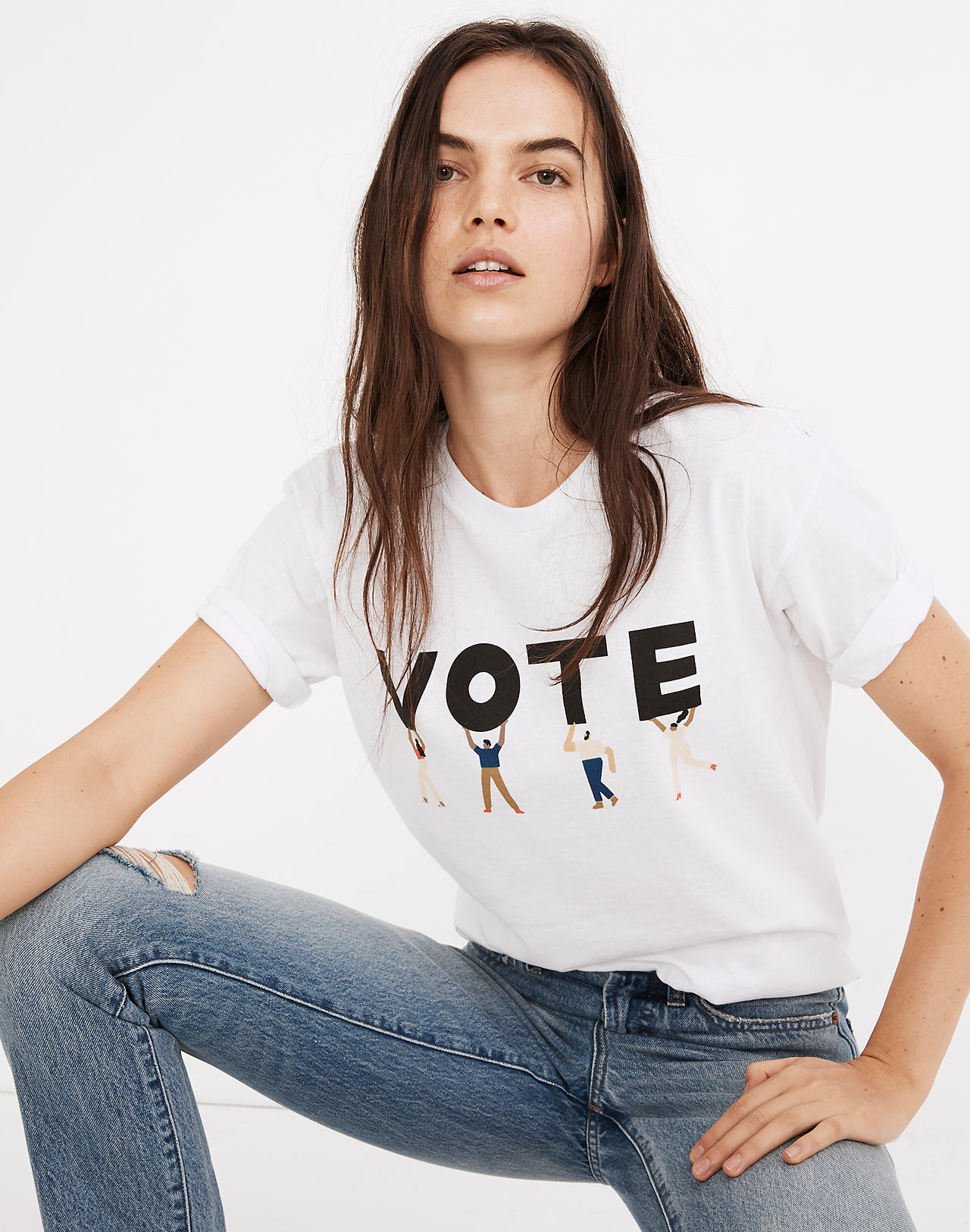 Illustrated vote t-shirt