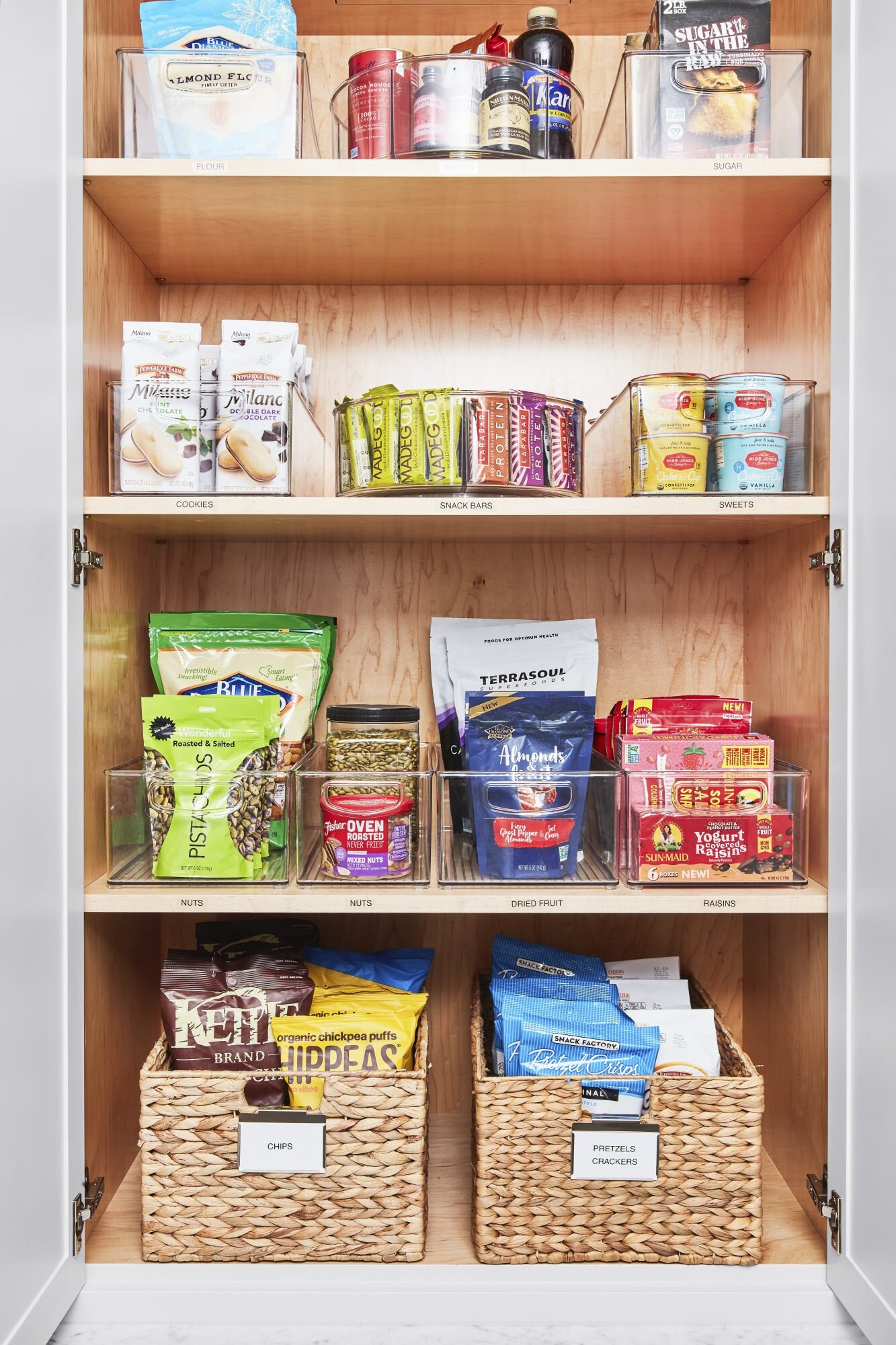 Real Simple Home pantry organized