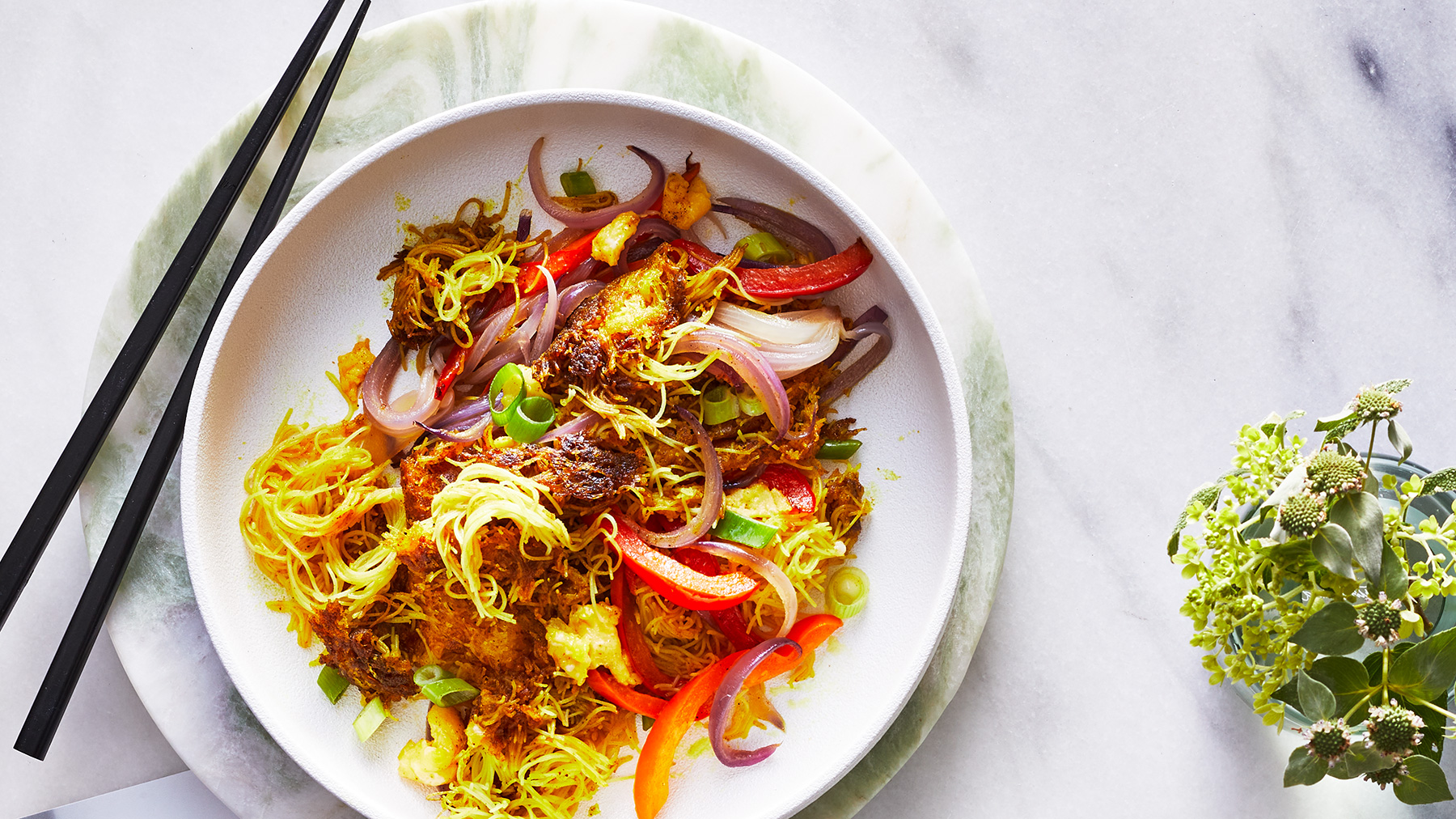 October 2020 Recipes: Curry Rice Vermicelli