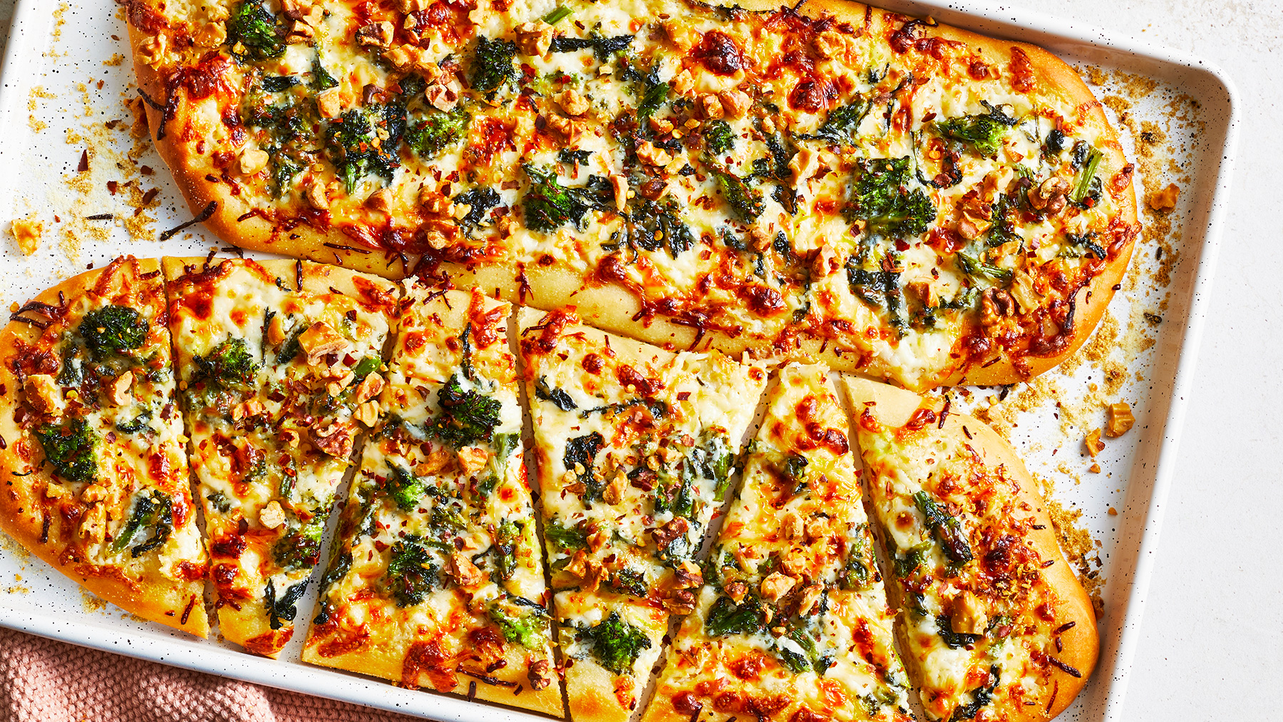 October 2020 Recipes: Green and White Pizza