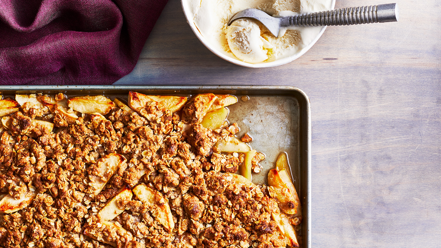 October 2020 Recipes: Sheet Pan Apple Crisp