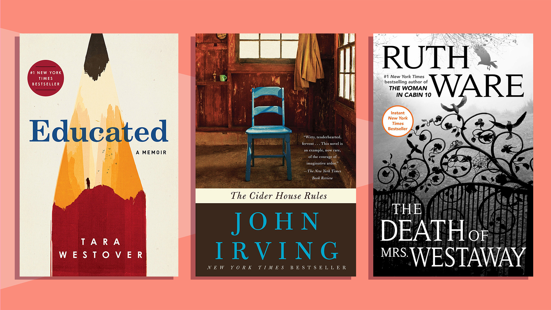 Fall books - classic books for fall and kids' books for fall (Educated, Cider House Rules, and more)