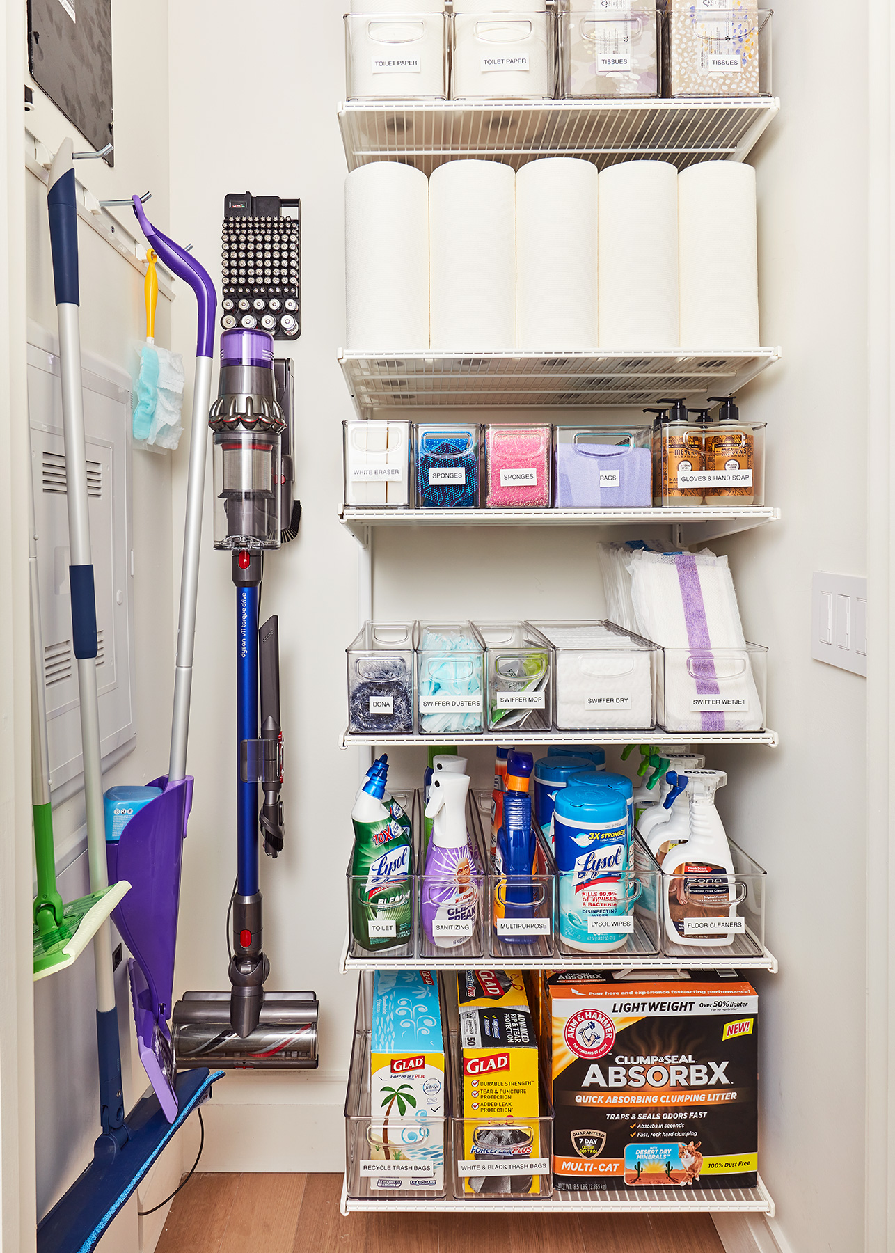 2020 Real Simple Home Tour: Cleaning Closet