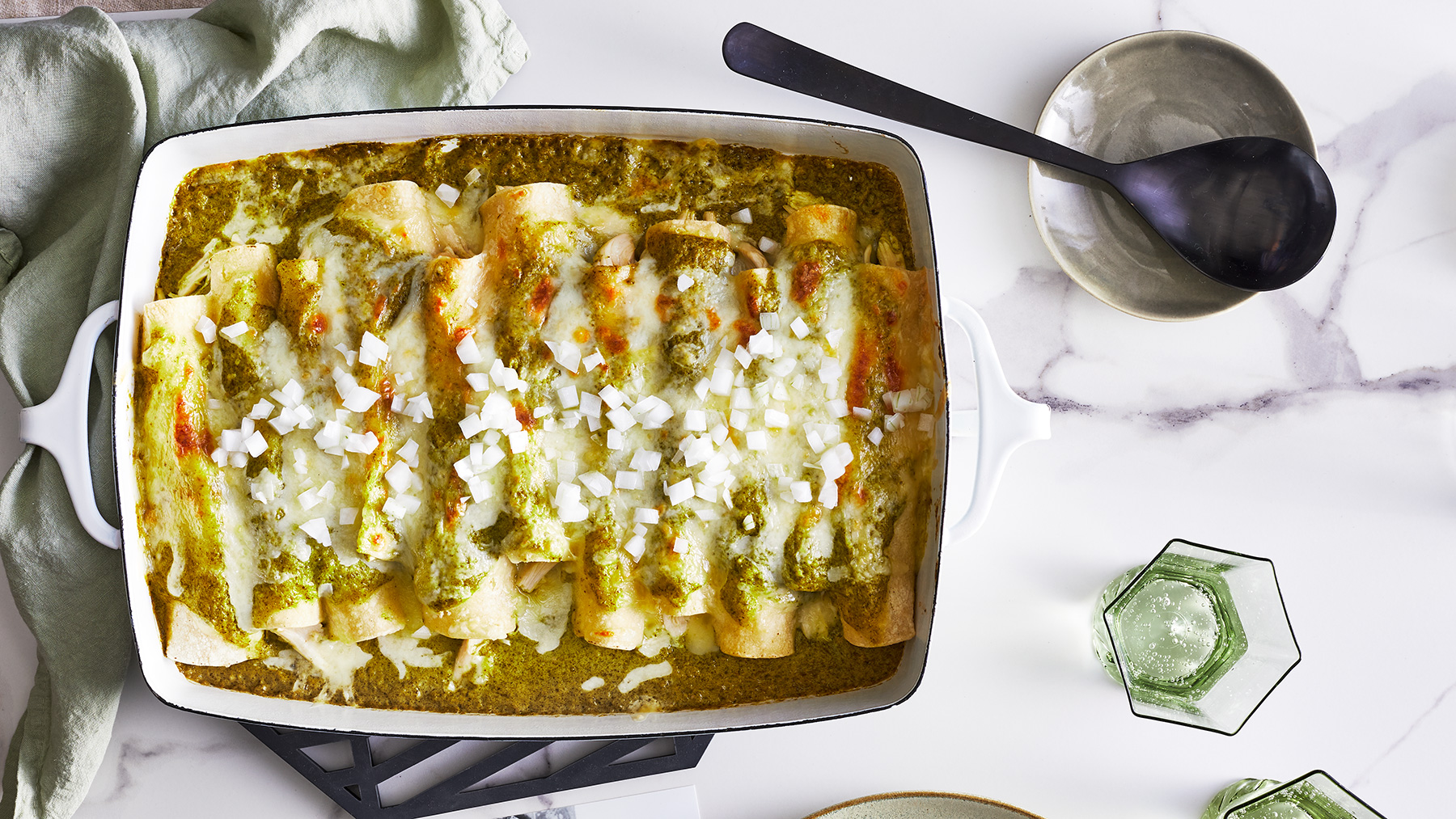 Chicken Enchiladas in Salsa Verde Recipe