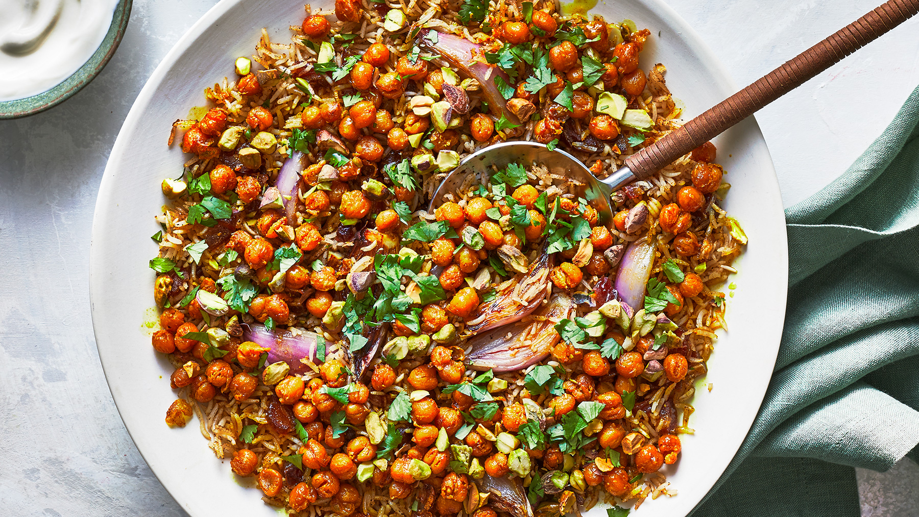 Spiced Rice With Crispy Chickpeas Recipe