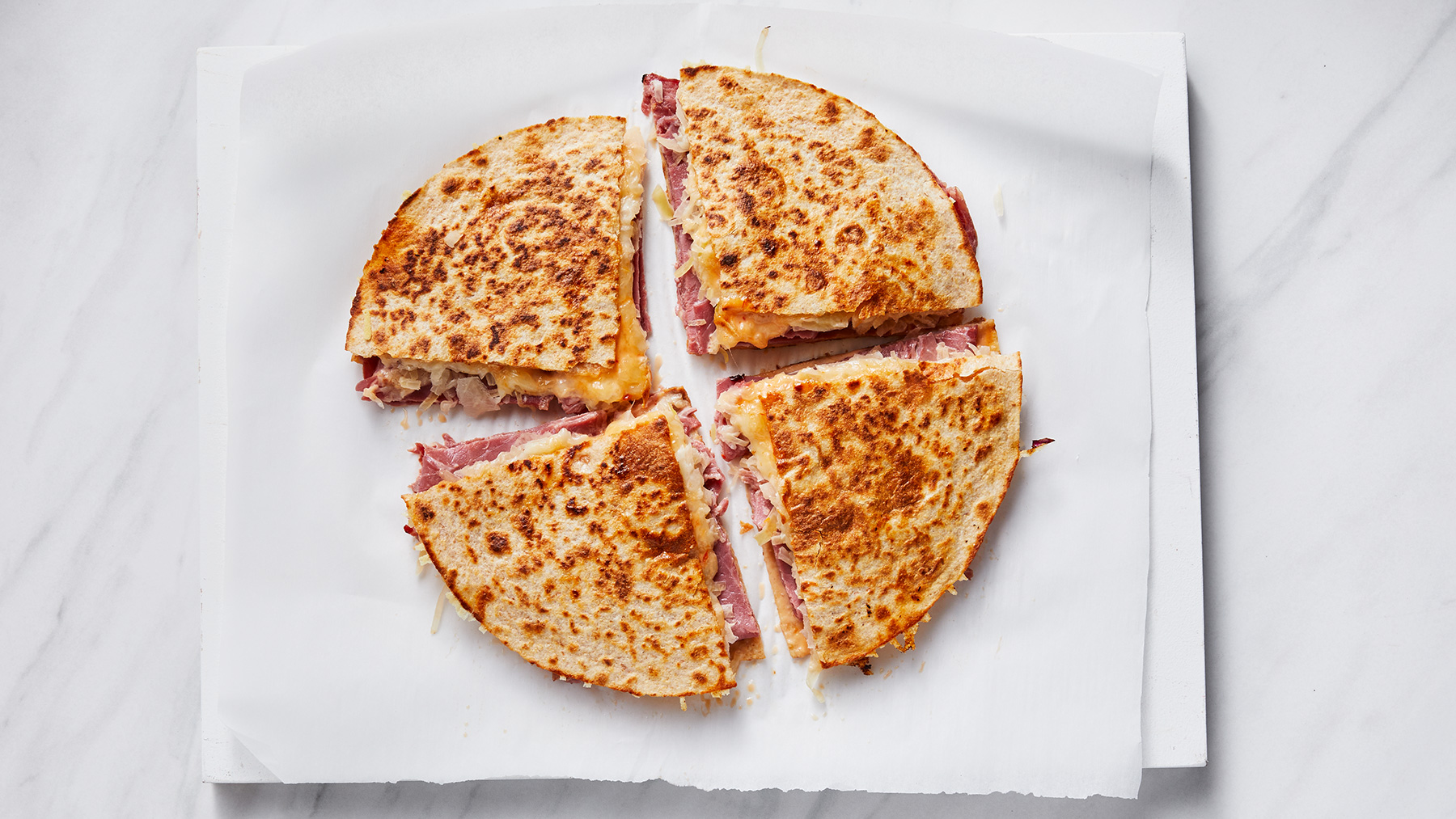 Reuben Quesadillas Recipe