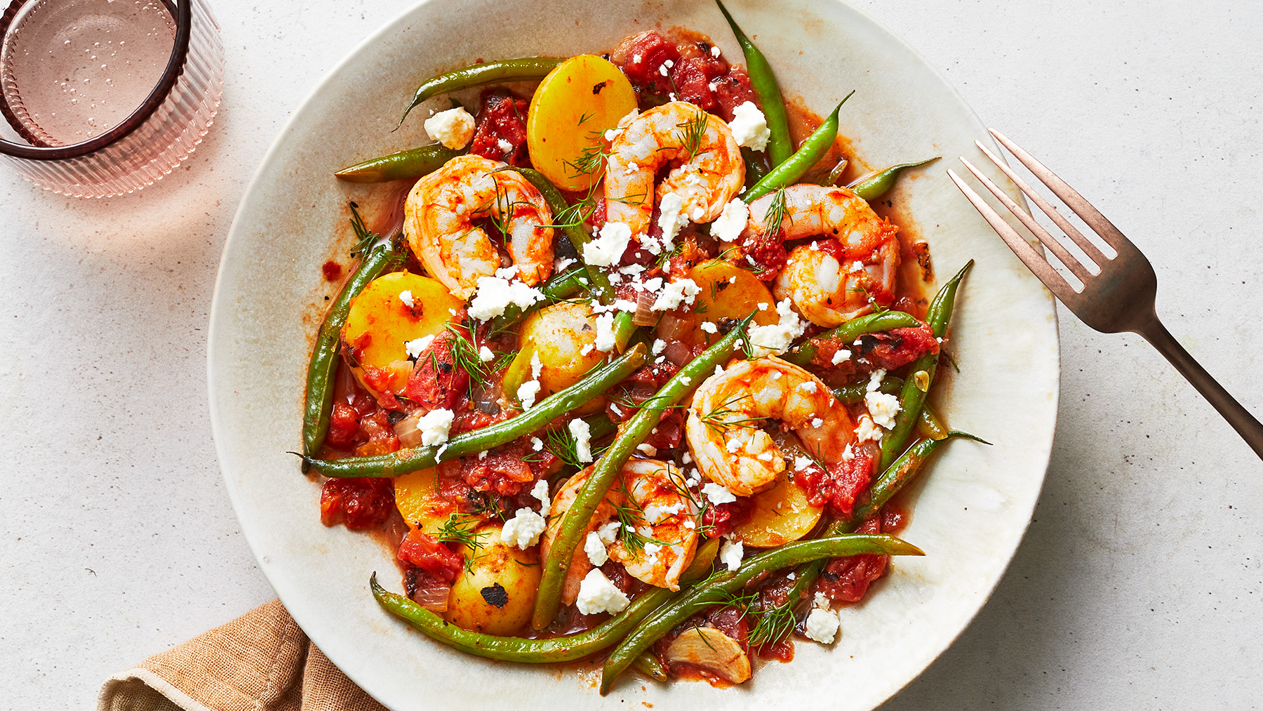 Greek-Style Shrimp and Potatoes Recipe