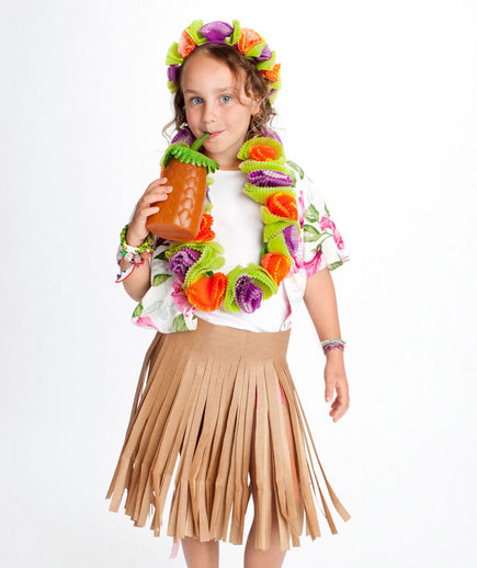 DIY Halloween costumes ideas - Hula skirt