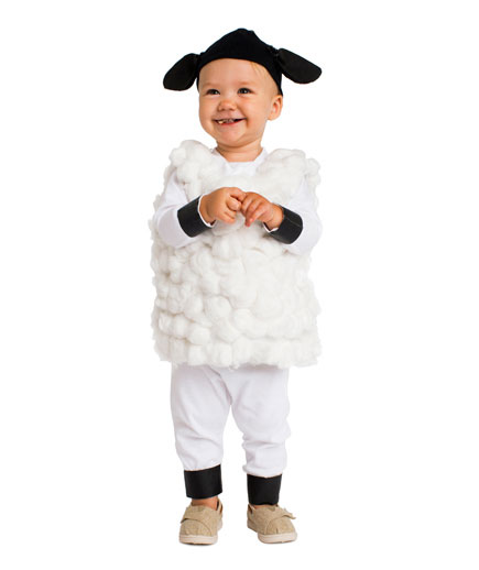 DIY Halloween costumes ideas - Lamb costume