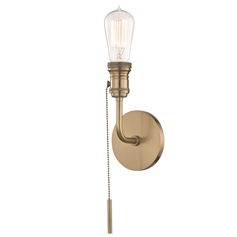 2020 Real Simple Home Dining Room: Lexi Aged Brass Wall Sconce