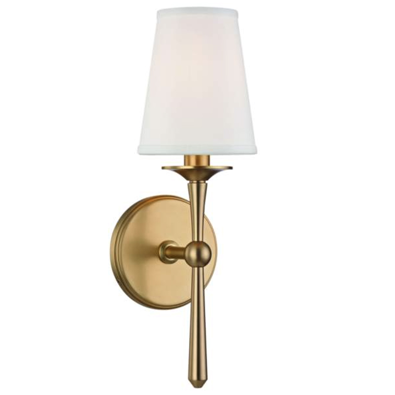 2020 Real Simple Home Foyer: Hudson Valley Islip Brass Wall Sconce