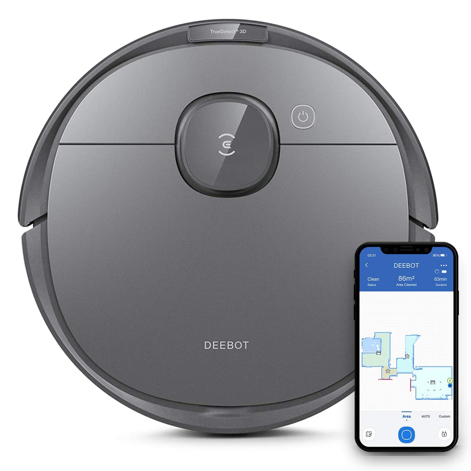 Robot Vacuum Cleaner & Mop with Smart Object Detection & Avoidance