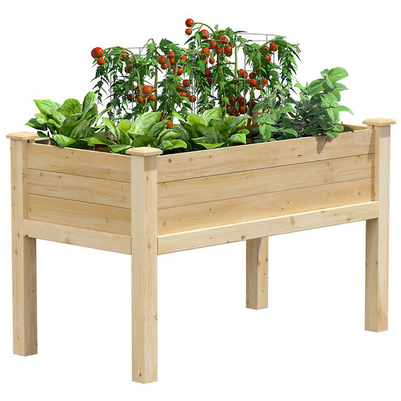 2020 Real Simple Home Terrace: Greenes Fence Cedar Elevated Garden Bed