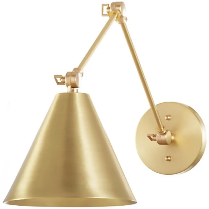 2020 Real Simple Home Foyer: Brass Peak Sconce