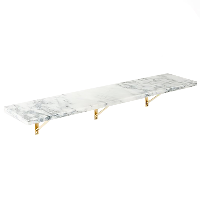 2020 Real Simple Home Foyer: Marble Wall-Mounted Shelf