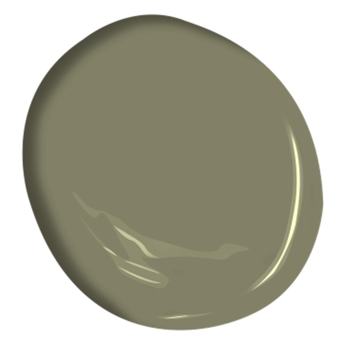 Benjamin Moore Tate Olive green paint swatch