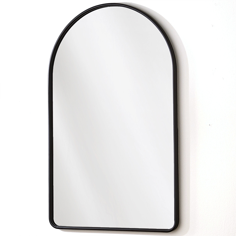 2020 Real Simple Home Foyer: Simply Arched Mirror in Matte Black