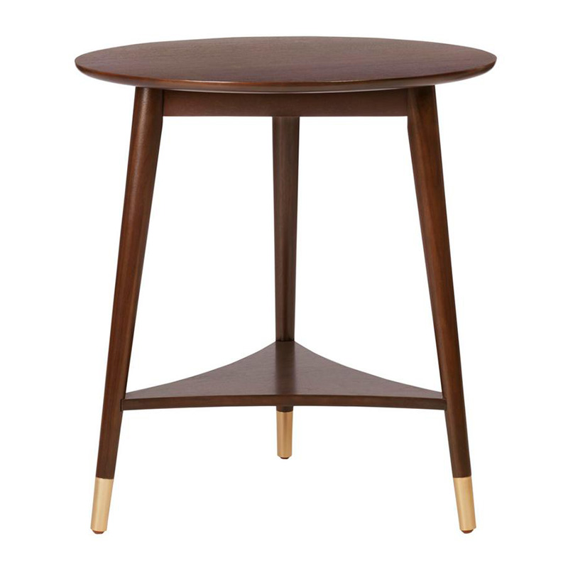 2020 Real Simple Home Living Room: Ramsey Round Sable Brown Wood End Table
