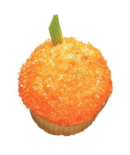 Halloween desserts and Halloween treats - Glittery Pumpkin Cupcake