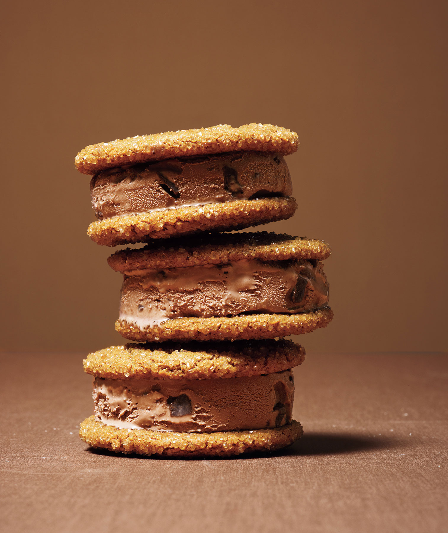 Halloween desserts and Halloween treats - Molasses-Ginger Chocolate Ice Cream Sandwiches